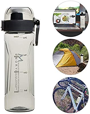 Leak Proof Lid 24oz 700ml Water Bottle for Cycling Camping Hiking Flip Top Eco Friendly /& BPA Free Secure Lock Secure Lock Insulated Sky Blue Exclusky Sports Water Bottles Jogging
