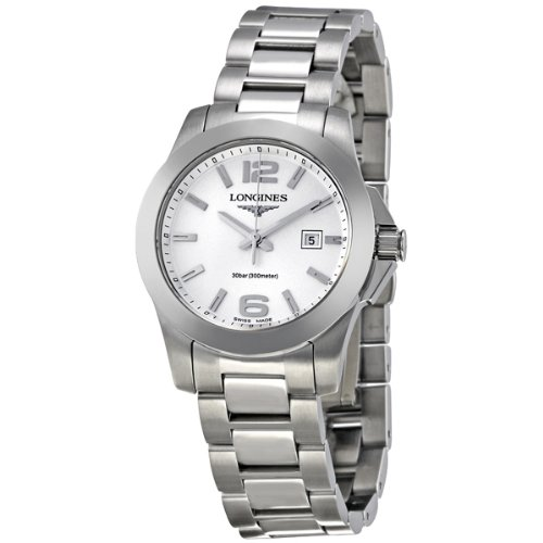 Longines Stainless Steel Wrist Watch (Longines Conquest Stainless Steel Ladies Watch)