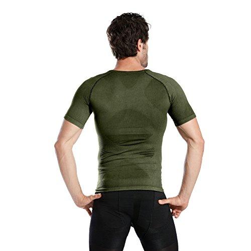 Hoter Mens Slim and Tight Super Soft Compression & Slimming Shaper V-Neck Compression Shirt by HÖTER (Image #4)