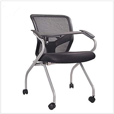 Silla ergonómica de oficina Plegable y silla plegable armado, con Presidente de la Conferencia del tablero de escritura, de forma gratuita cena la silla, silla de la oficina de recepción Silla de