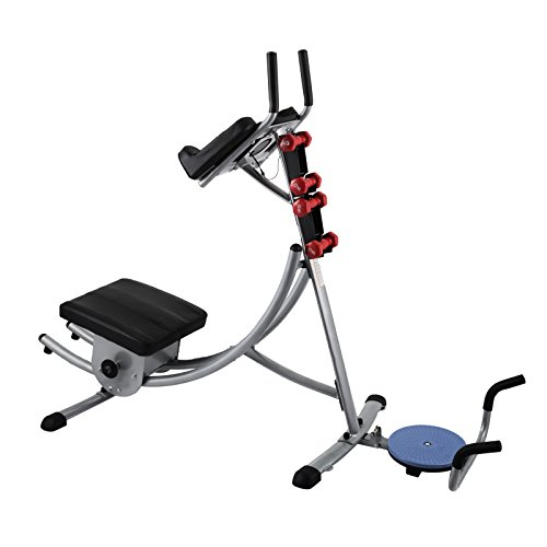 Popsport Abdomen Machine 330LBS Abdominal Coaster Abdomen Exercise Equipment with Adjustable Seat for Abdominal Muscle Training (Ab Coaster with 4 Dumbbells and wriggled Plate) by Popsport (Image #1)