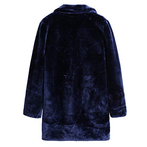 Cappotto Autunno Cappotto di Maniche Moda Cappotto Top Cappotto Blu Donna Giacca BaZhaHei Pelliccia Donna Donna Donna Pelle Inverno Donna Lunghe Casuale Maglione Cardigan Lunghe di Maglieria Giacca xqfZnAw1