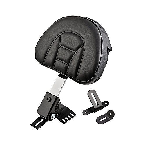 Plug-In Driver Backrest Kit for 1997-2017 Harley Touring One-Piece Slotted Seat (10 5/8