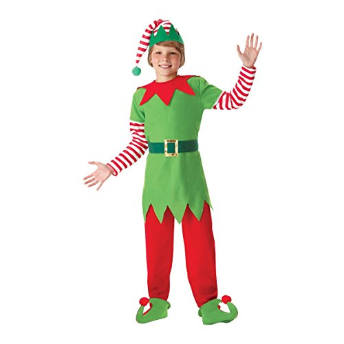 amscan Child's Santa's Helper Christmas Elf Nativity Fancy Dress Party Costume, White, UP to ()