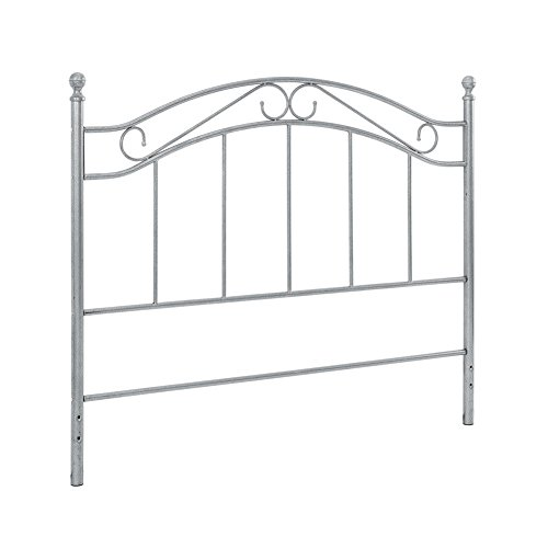 Dorel Living DL5278Q-P Winnie Full/Queen Metal Headboard, Pewter by Baby Relax