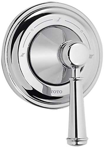 - Toto TS220X1#BN Vivian Three-Way Diverter Trim with Off-Lever Handle, Brushed Nickel