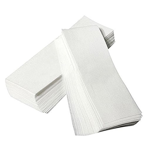 100PCS White Large Facial Body Hair Removal Non Woven Wax Strip Epilating Waxing Strips