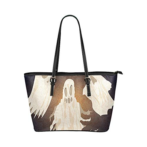 Happy Halloween Spirit Ghost Large Soft Leather Portable