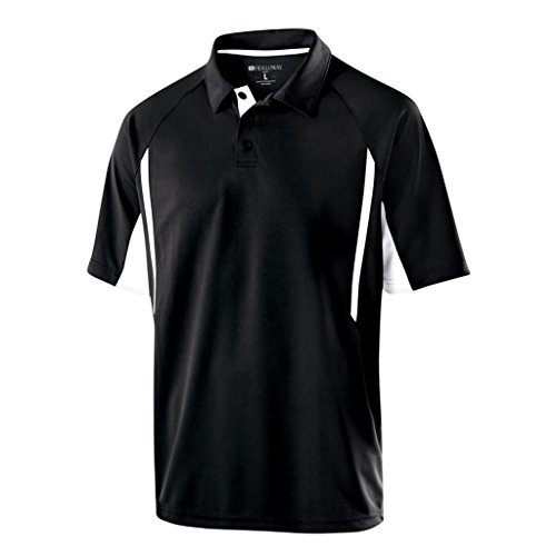 - Holloway Dry Excel Avenger Polo (XXXX-Large, Black/White)