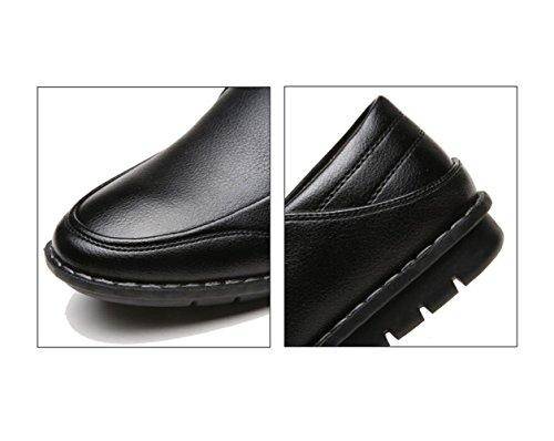 Casual Scarpe Black Cuoio Business di Scarpe Oxford Stoffa Uomo Cotone dtzw4