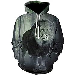 3D Hoodies Sweatershirt,ONLT TOP Men's 3D Digital Lion Print Athletic Sweaters Hoodie Hooded Sweatshirts