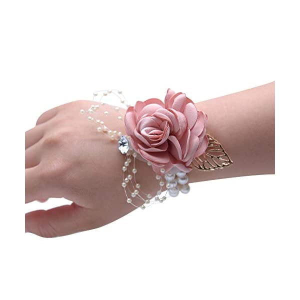 JustMyDress-Wedding-Wrist-Corsage-Brooch-Set-Flower-Bead-Bracelet-Bridesmaid-Prom-Party-JW72