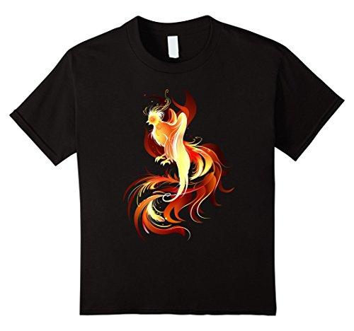 Kids Fantasy Bird Phoenix Firebird t-shirt 4 Black - Phoenix Bird Designs