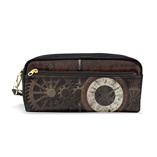 Pencil Case Pouch Funny Amazing Gear Gear Steampunk Vintage Large Capacity Pen Bag Makeup Pouch Durable Students Stationery Two Pockets with Double Zipper