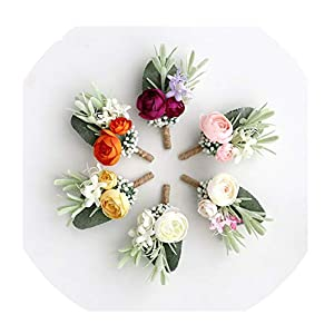 FAT BABY Wedding Planner Boutonniere White Wrist Corsage Bracelet Bridal Flower Wedding Boutonniere for Guests Mariage Accessories 41