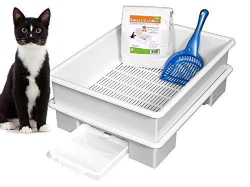 Smart Cat Box Starter Kit Litter Box - No Expensive Urine Pads Needed