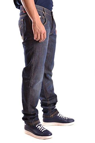 Frankie Morello Herren MCBI125088O Blau Baumwolle Jeans