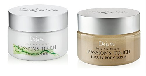 Lot of 2 Items: Deja Vu dead Sea Body Butter +Salt Scrub Passion Touch (Touch Body Butter)