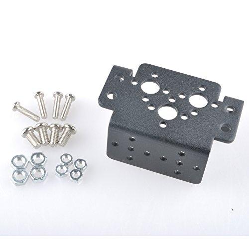 (Aluminum Multifunction Servo Bracket Steering Head Robot Manipulator for MG995 MG996R)