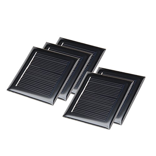 41tapbvTDlL - uxcell 5Pcs 4V 50mA Poly Mini Solar Cell Panel Module DIY for Phone Light Toys Charger 54mm x 54mm