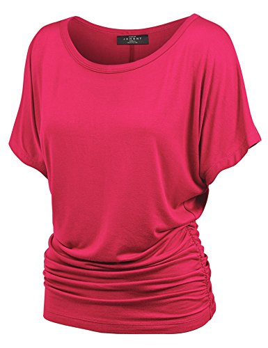 Dolman Drape Top with Side Shirring