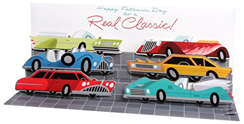 Up With Paper Pop-Up Panoramics Sound Greeting Card - Muscle Cars (Greeting Cars Cards)