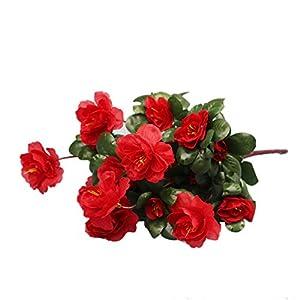Heat-Tracing Artificial Bouquet Simulation Of Azalea Safflower Home flower decoration decoracao de festa,1 56