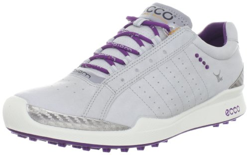 ECCO Women's Biom Hybrid Sport Golf Shoe,Concrete/Imperial Purple,42 EU/11-11.5 M US by ECCO