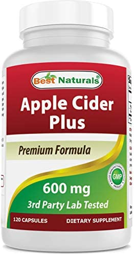 Best Naturals Apple Cider Vinegar Plus 500 Mg Capsules, 120 Count 1