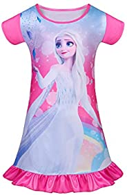 LMM Toddler Nightgowns Girls Princess Pajamas Summer Casual Dress for Birthday Party Gifts