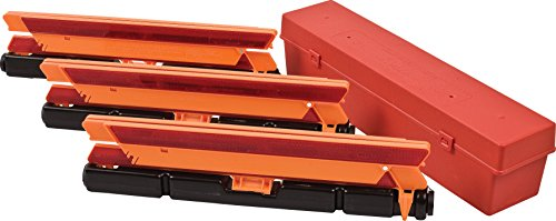 Brady 57892 Reflective Red and Orange Emergency Warning Triangles (Pack of 3) ()