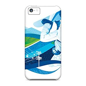 High Quality Shock Absorbing Cases For Iphone 5c-snowboard Halfpipe