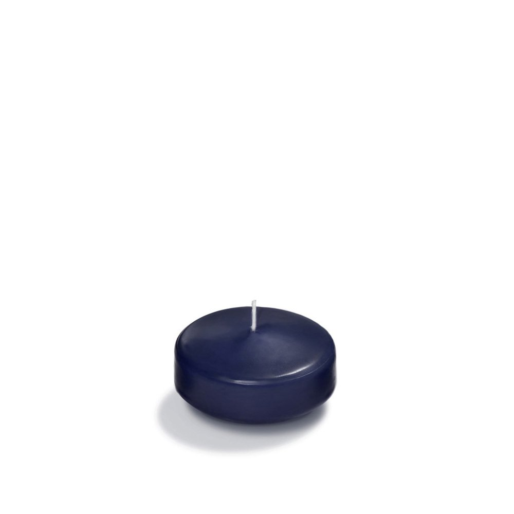 Case of 36 - Yummi 2.25'' Navy Blue Floating Candles