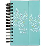 """Boxclever Press Budget Book. Monthly Bill Organizer & Budget Planner Accounts Book Keeps Track of finances, Household Expenses & Finance Tracker with Pockets (7"""" x 5.3"""" x 1.3"""", Turquoise)"""