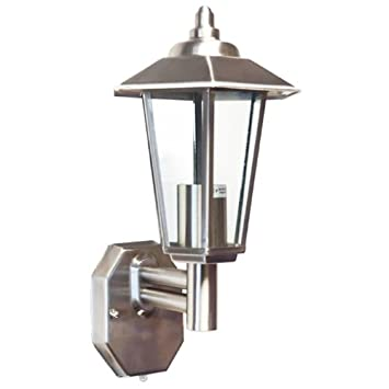 Stellus contesa wl pc with led bulb stainless steel outdoor wall stellus contesa wl pc with led bulb stainless steel outdoor wall light with dusk to mozeypictures Images