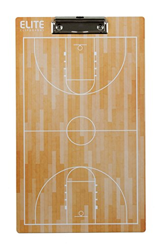 Elite Clipboards Double Sided Dry Erase Coaches Marker Board (Basketball)