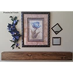 U Pick Size & Finish Rustic Wood Beam Floating Shelf Fireplace Mantel