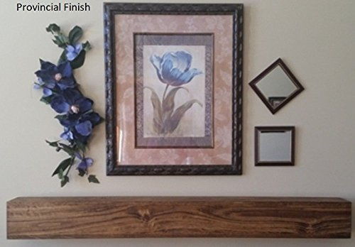 U Pick Size & Finish Rustic Wood Beam Floating Shelf Fireplace Mantel by Pollums Natural Resources LLC
