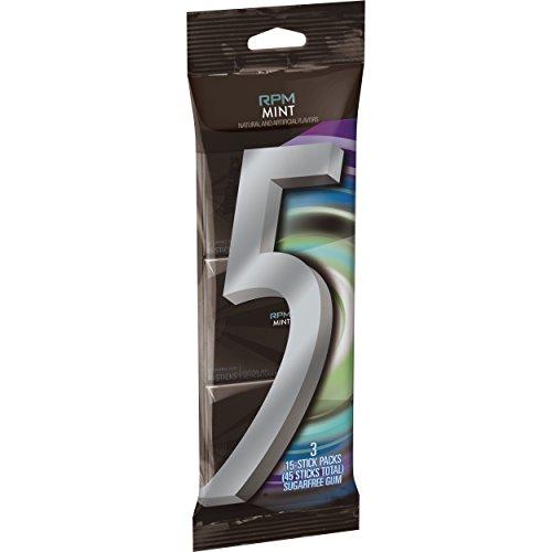 - 5 Gum RPM Mint Sugarfree Gum, multipack (3 Counts in total)