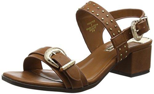 Dorothy Perkins WoMen Block Heel Open-Toe Sandals Brown (Brown)