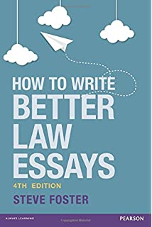 how to write law essays exams amazon co uk s i strong  how to write better law essays tools and techniques for success in exams and assignments