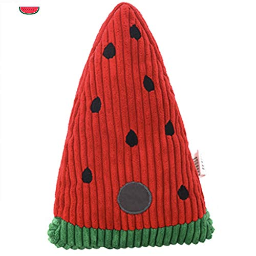 CheeseandU 1PC Pet Dog Squeak Toy Soft Durable Corduroy Dog Toy Super Cute Novelty Cactus Pineapple Shape Teeth Cleaning Massager Stuffed Playtoys for Small Medium Dogs Cats, 9Inch -