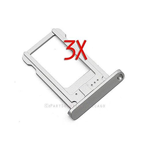 ePartSolution_Lot of 3 iPad Mini 1 | iPad Mini 2 Retina SIM Tray SIM Card Tray Slot Holder Replacement Part USA Seller (Silver)