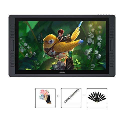 Huion KAMVAS GT-221 Pro 21.5 inch HD Drawing Tablets Screen Graphics Pen Display Monitor with 8192 Pen Pressure and 10 Shortcut Keys, 1 Touch Bar on Each Side