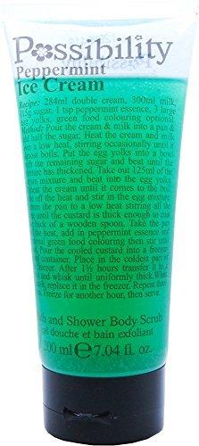 Possibility Lemon Cheesecake Bath & Shower body scrub 200ml (Peppermint Ice Cream) by - Cheesecake Mint
