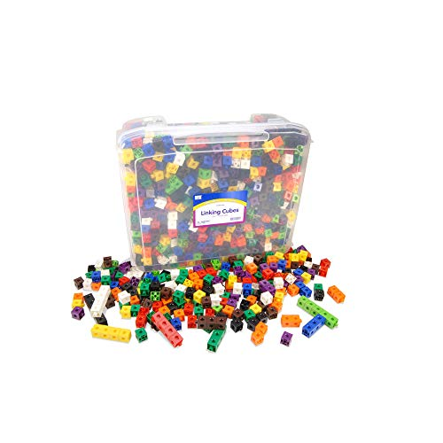 EAI Education Linking Cubes: 2cm - Set of 1000 in Tub ()