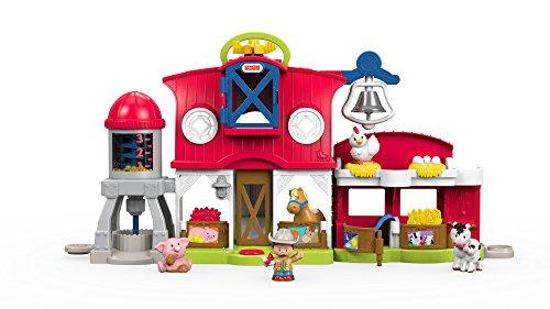 Fisher-Price FKD14 Little People Boerderij speelset met geluiden incl. 5 speelfiguren en dieren, vanaf 12 maanden…
