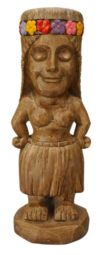 (Moonrays 95962 Tiki Themed Outdoor Solar Light Garden Gnome Island Princess)