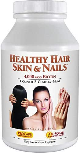 Andrew Lessman Healthy Hair, Skin & Nails 60 Capsules – 4000 mcg High Bioactivity Biotin, MSM, Full B-Complex Promotes Beautiful Hair, Skin and Strong Nails - No Additives. Easy to Swallow Capsules