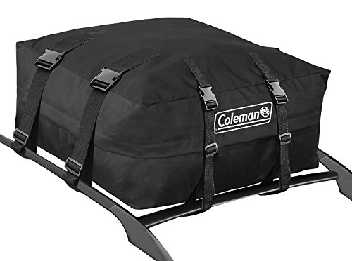 Best Coleman Water Resistant Roof Top Rack Cargo Carrier - for Vehicles with and Without Rails - All Weather Storage Bag - Black